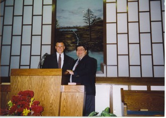 Me and My Father-in-law at My First Church