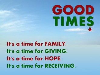 Good Times Christmas Sermon Series